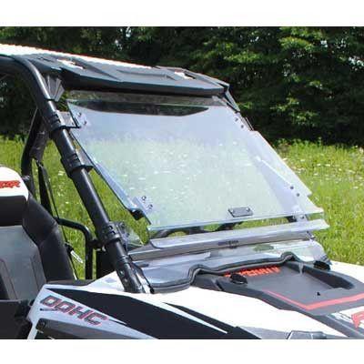 Super ATV RZR Scratch Resistant Flip Windshield