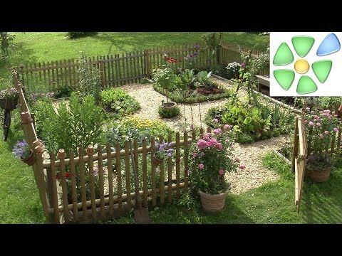 Garten-Video: ❖ Bauerngarten ❖ anlegen und bepflanzen ❖ mit Gemüse, Salat, Blumen #kräutergartenpalette