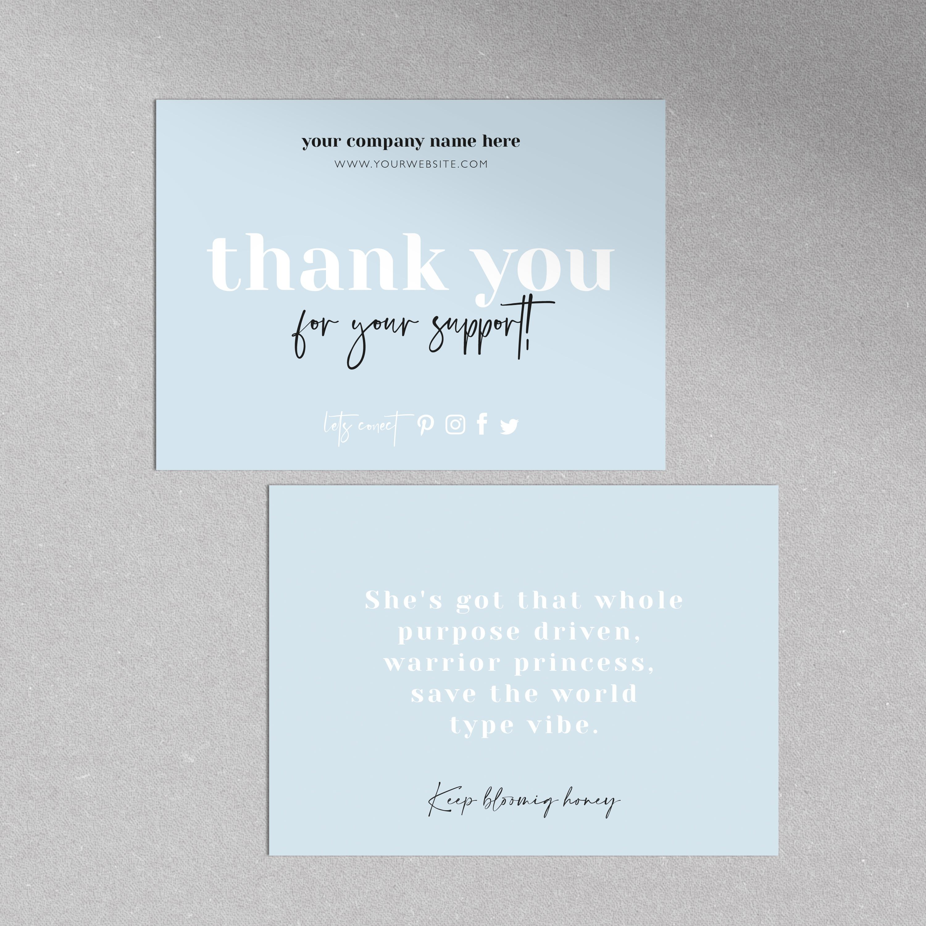 Small Business Thank You For Your Order Card Minimalistic Thank You Package Insert Thank You For Your Support Business Stationery In 2021 Business Cards Minimal Business Thank You Cards Business Thank You