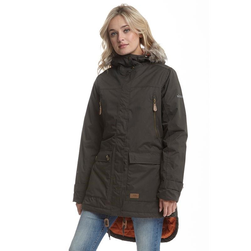 547f17108 Buy Trespass Womens Clea Insulated Waterproof Parka Jacket Dark ...