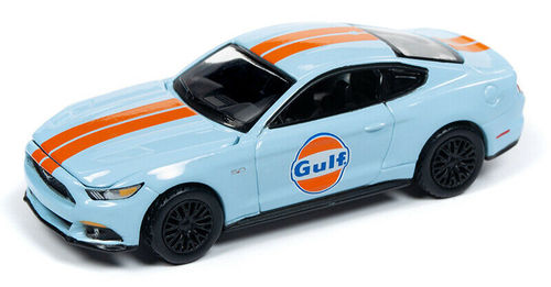 2017 Ford Mustang Gt Gulf Livery Light Blue 1 64 Scale Diecast Car