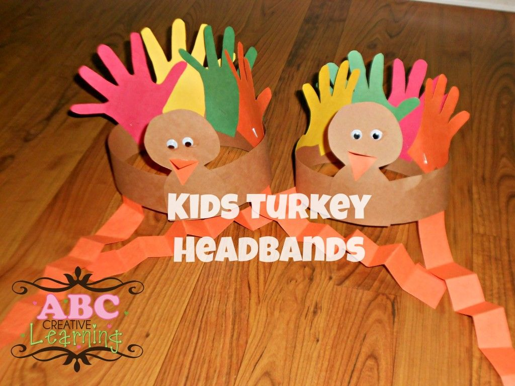 Thanksgiving Craft For Kids Turkey Headband Craft For Kids Craft Thanksgiving And Headband