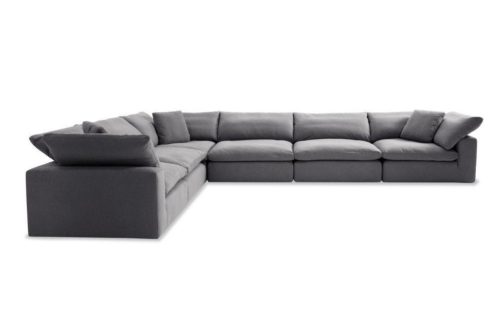 Best Dream Gray Modular 6 Piece Sectional In 2020 Oversized 400 x 300
