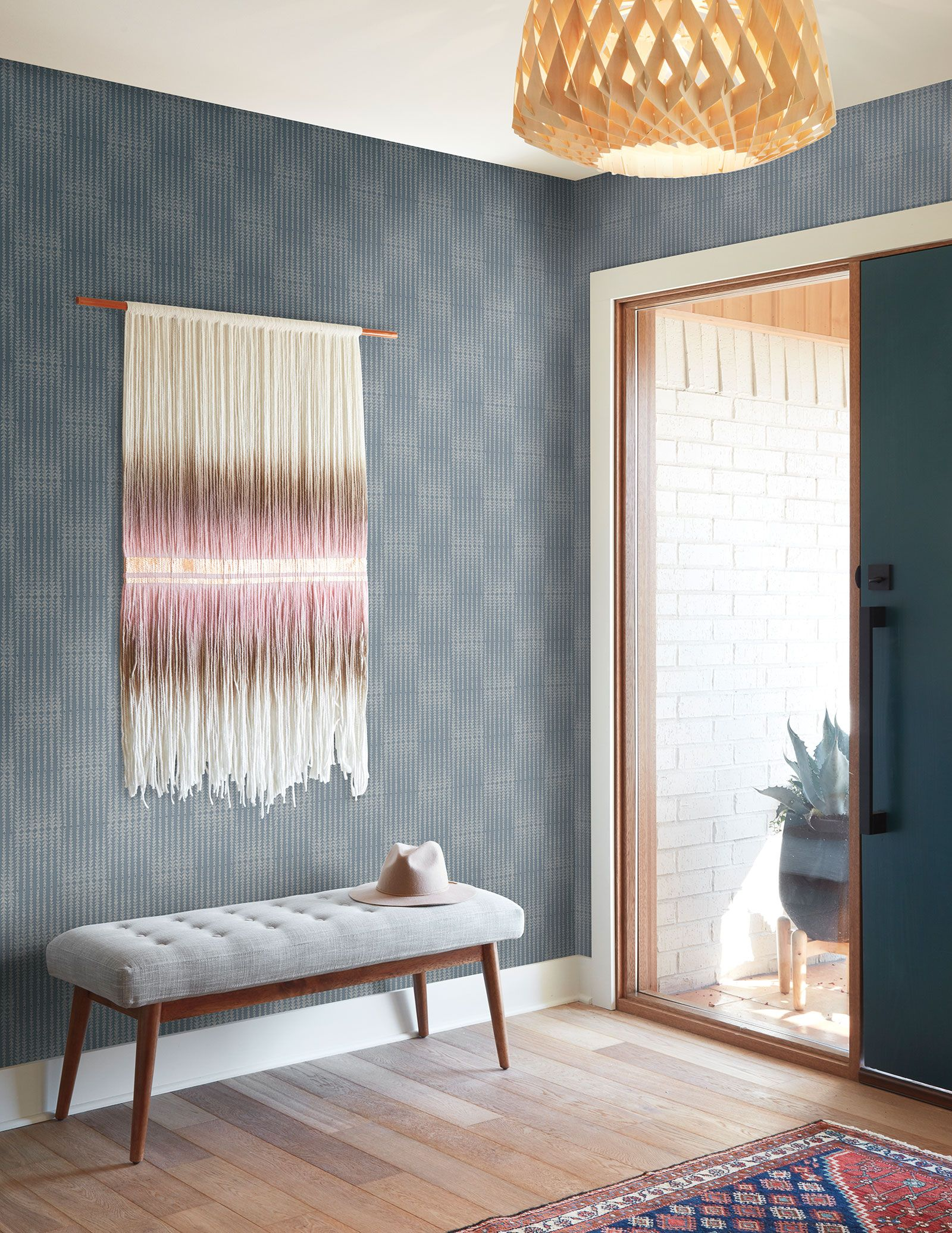 Magnolia Home Vantage Point Wallpaper Denim Blue