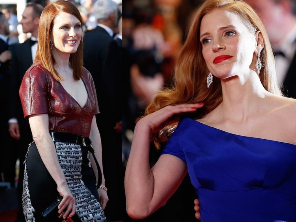 Redhead Celebrities - Julianne Moore and Jessica Chastain at the 2014 #Cannes Film Festival