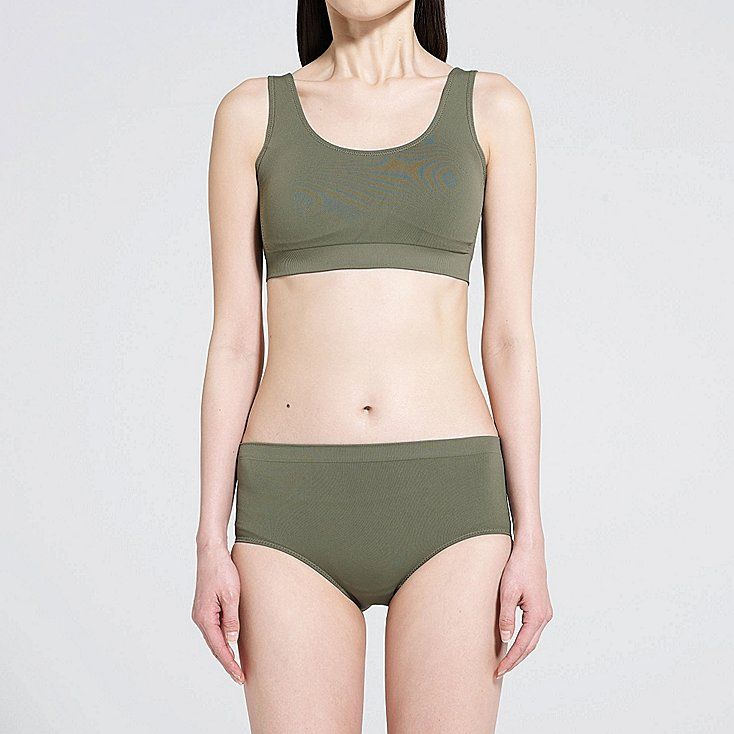 6b272a4ee5 WOMEN Uniqlo U Seamless Swim Bra | style | Swim bra, Swimwear, Uniqlo