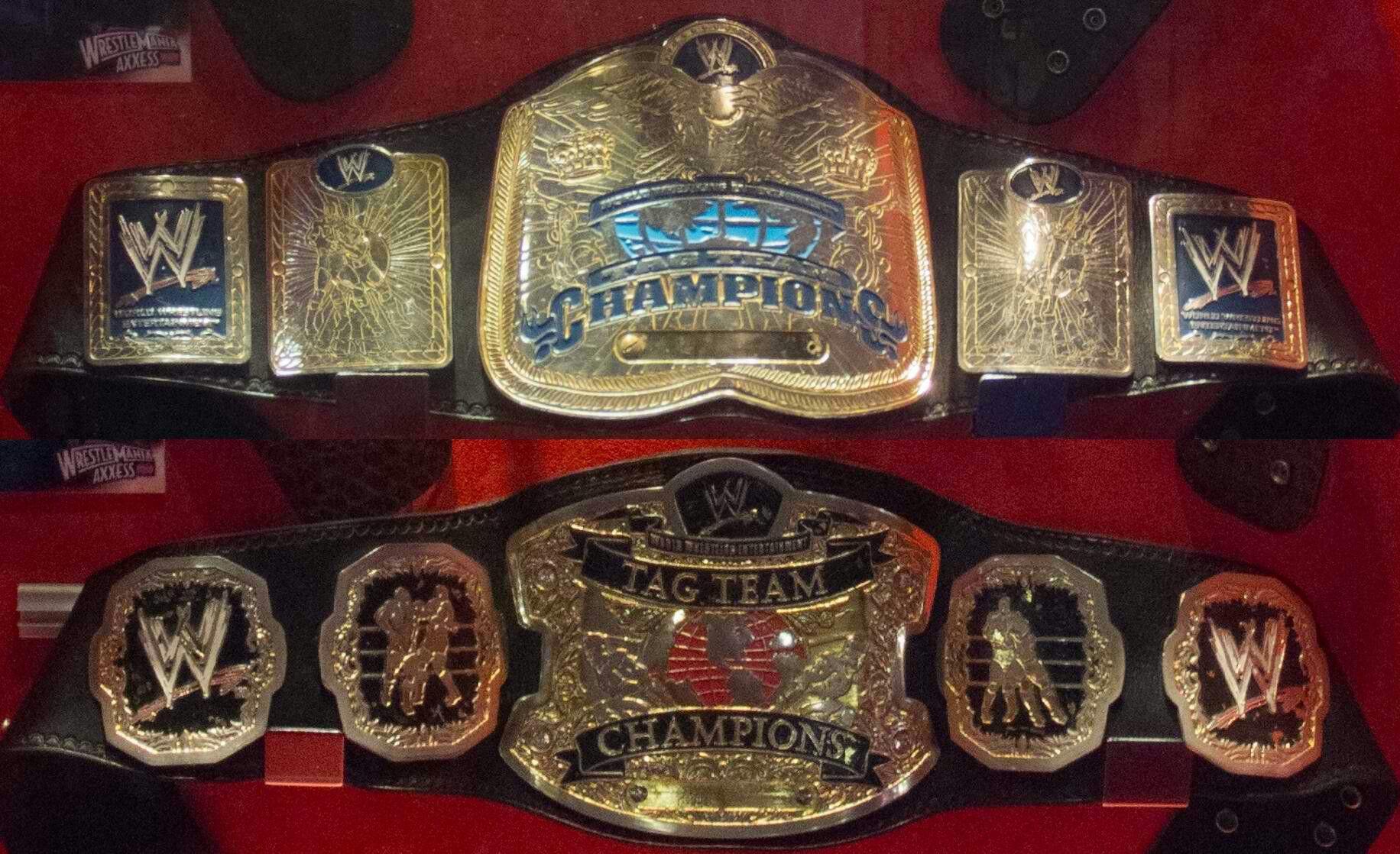 NEW RAW TAG TEAM SMACKDOWN TITLE WRESTLING CHAMPIONSHIP BELT WWF FIGHTING BELT