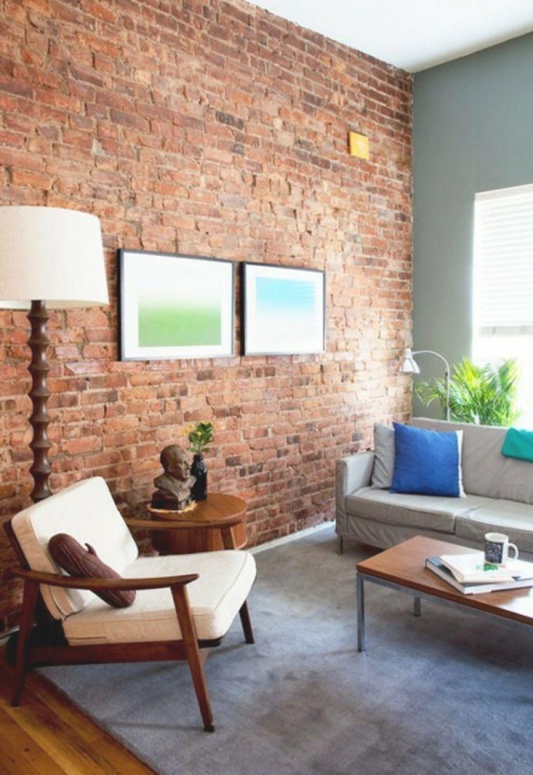 Luxus Wohnzimmer Ziegelwand