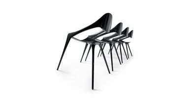 Gruppo Reflex Spa Shell Carbon Fiber Chair Design Cesare Monti