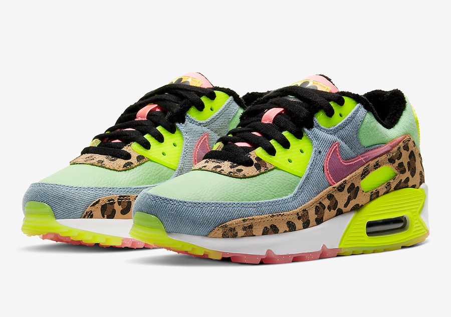 Nike Air Max 90 LX Color: Illusion Green/Sunset Pulse-Black ...