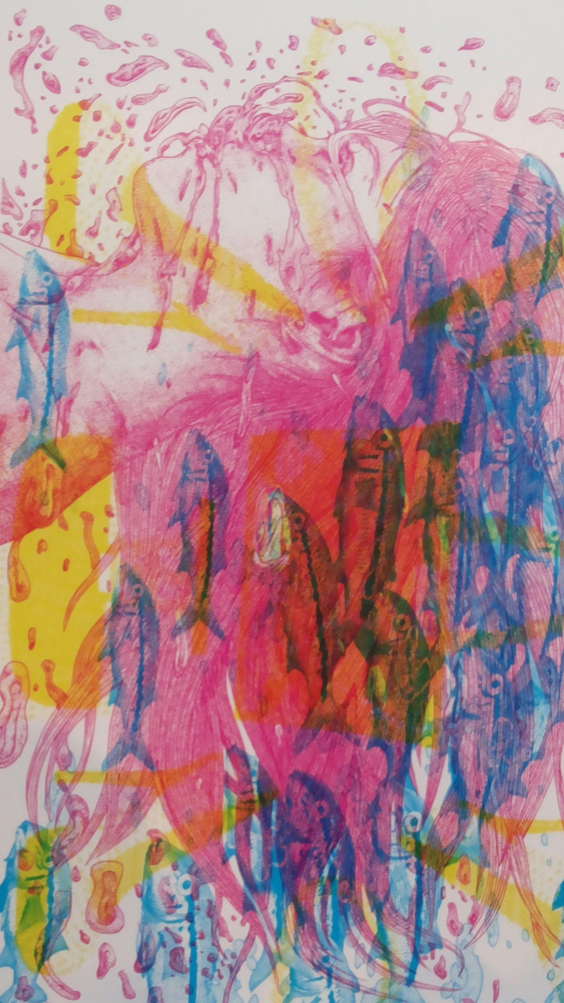 """图画的颜色有东方的味道,画作似乎也能表达出""""年年有余""""的感觉。"""