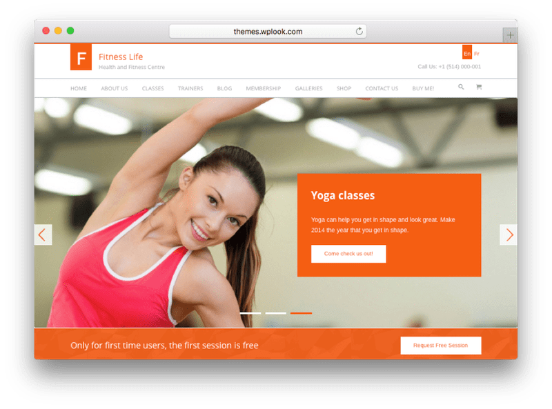 FitnessLife WordPress Theme by WPLook