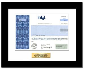 Intel Stock Quote Buy Intel Corporation Stock  Certificate And Gift