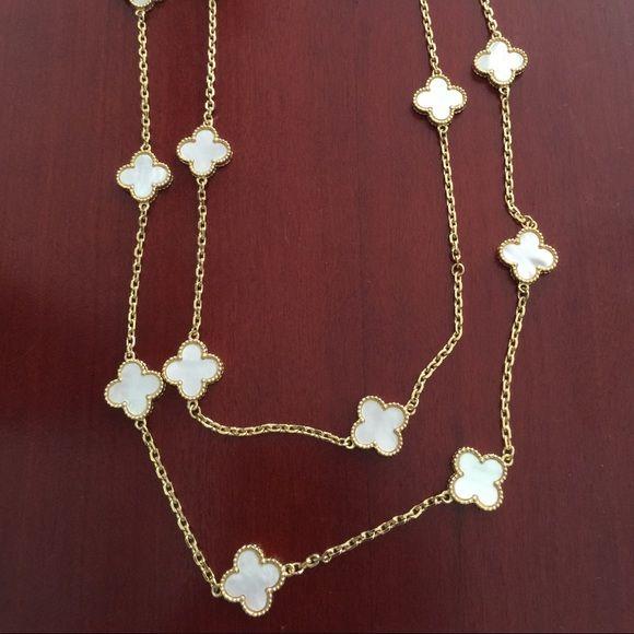 van cleef style vintage alhambra mop necklace van cleef