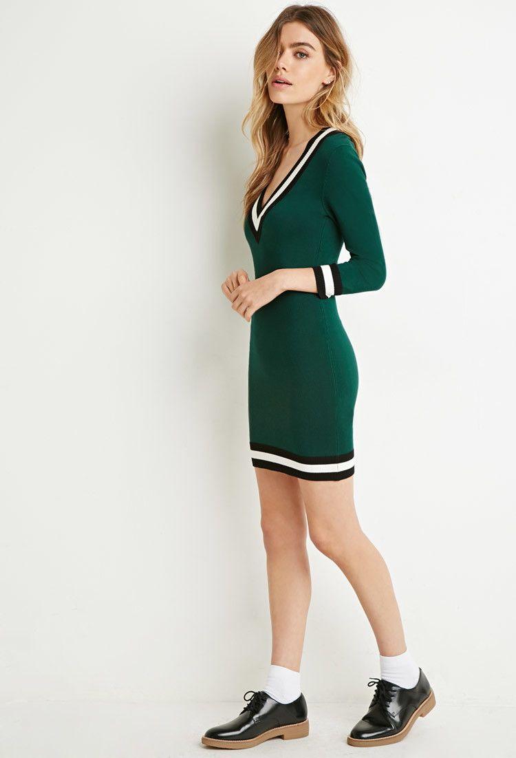 Varsity-Striped Sweater Dress - Forever 21 - 16 EUROS   Varsity ...