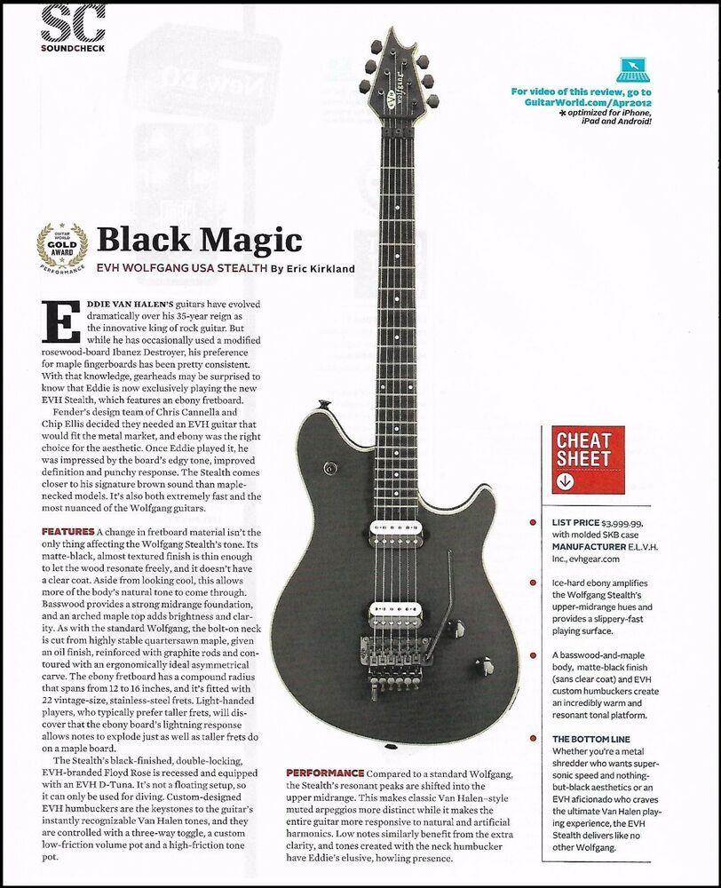 Eddie Van Halen Evh Wolfgang Usa Stealth Guitar Sound Check Review Article Evh In 2020 Eddie Van Halen Van Halen Guitar Reviews