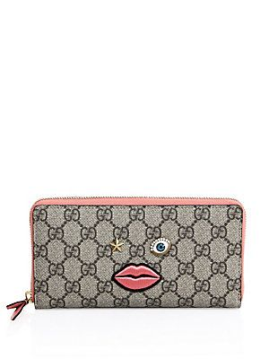 353782b6b3ac Gucci Circus Canvas Wallet - Beige-Pink | Products | Canvas wallet ...