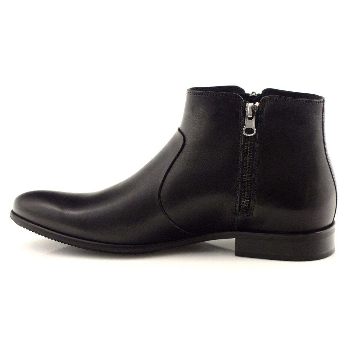 Botki Meskie Zimowe Pilpol 2154 Czarne Calzado Hombre Botines Hombre Hombres