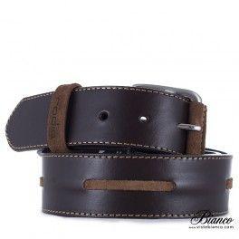 Cinturón náutico marrón