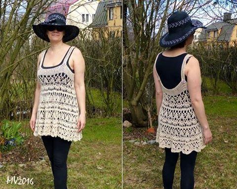 My new summer tunic #kesääodotellessa #kesätunika #puuvilla #virkattu #crochettunic #cotton #waitingforsummer #handmade  #crochet #mianvirkkuut