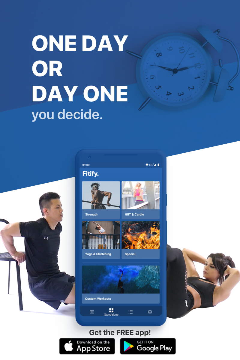 Join over 3M users of Fitify a free personal trainer in