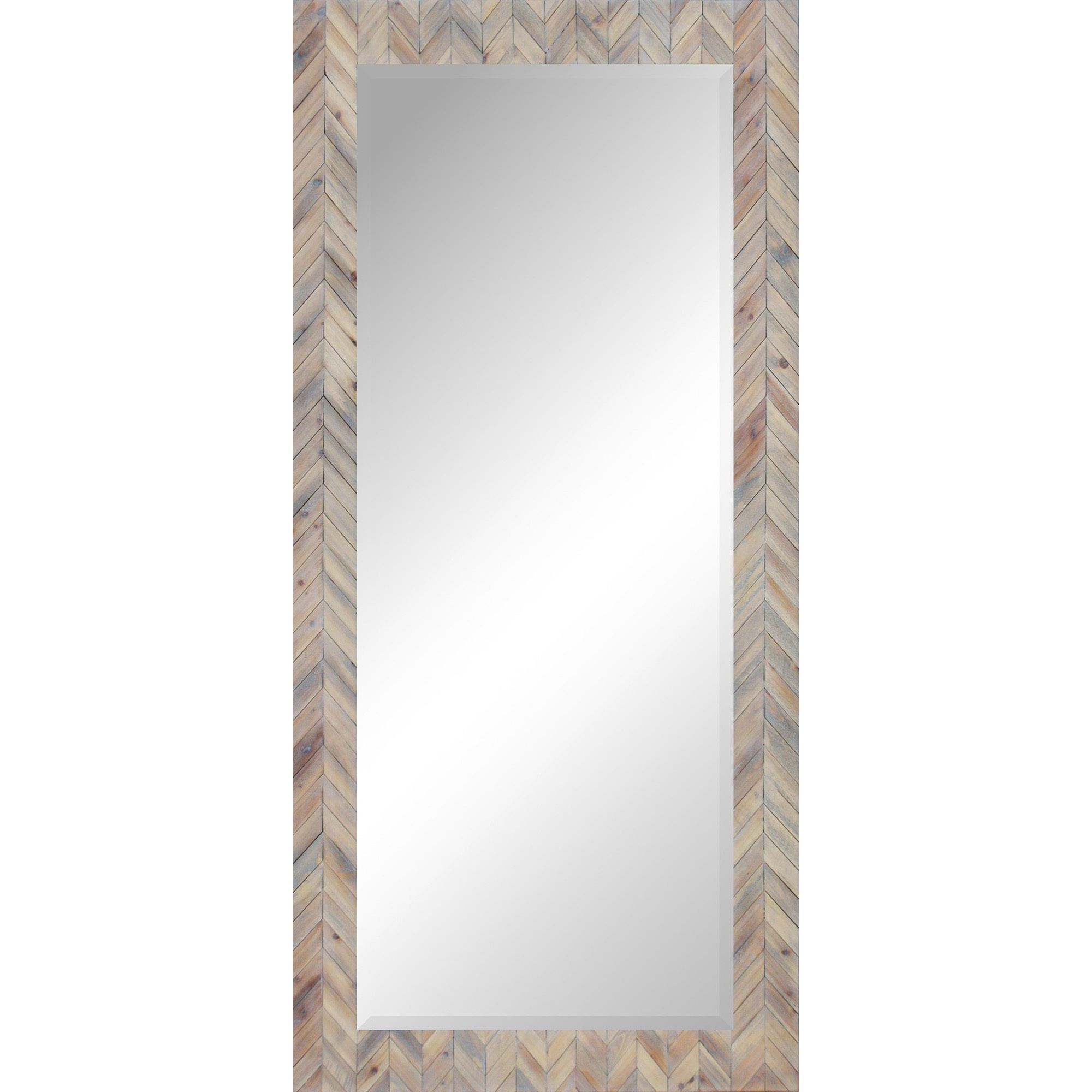 Chevrons Of White Washed Wood Define The Traditional Frame Of This