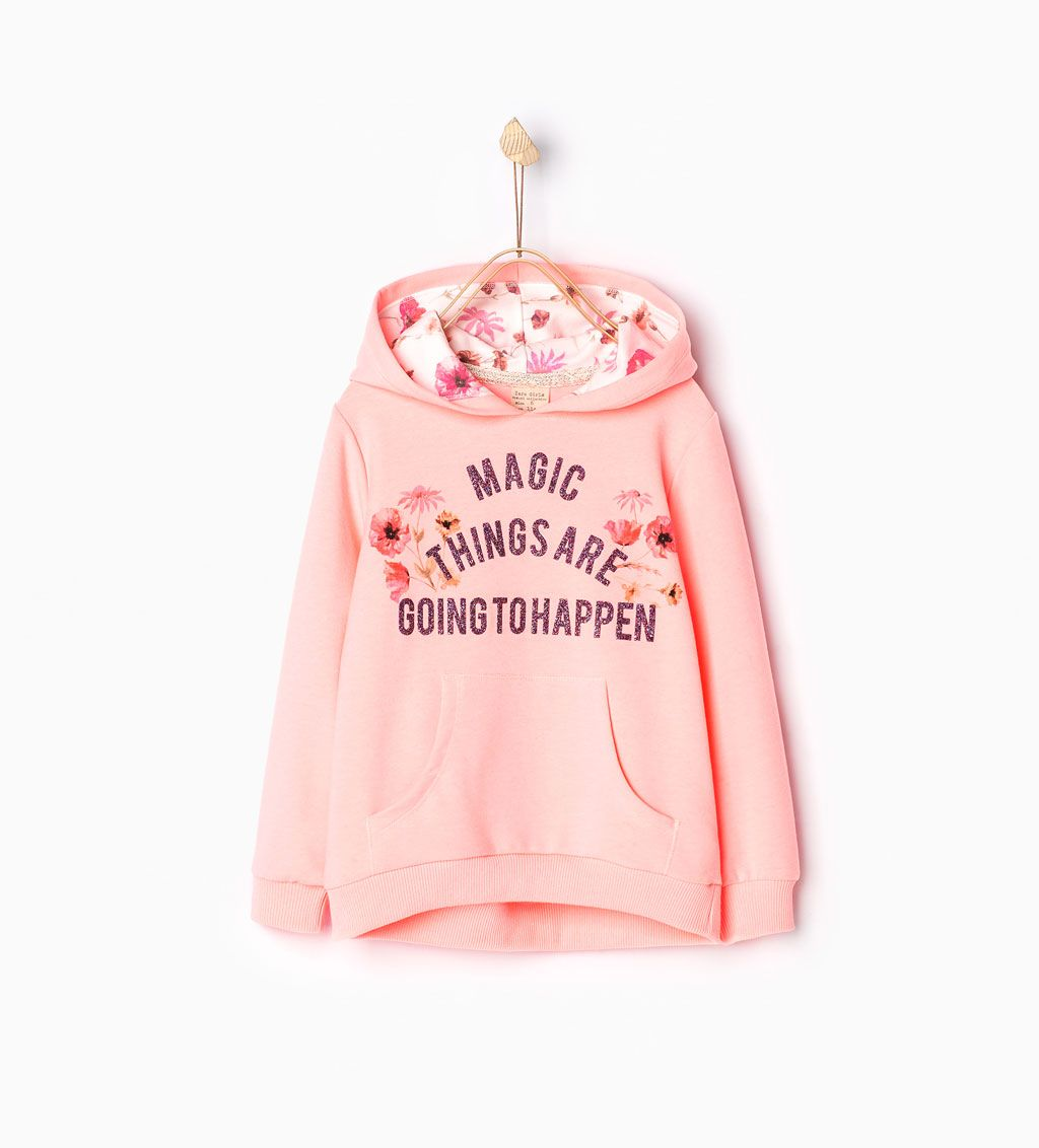 ZARA - KIDS - Hooded sweatshirt