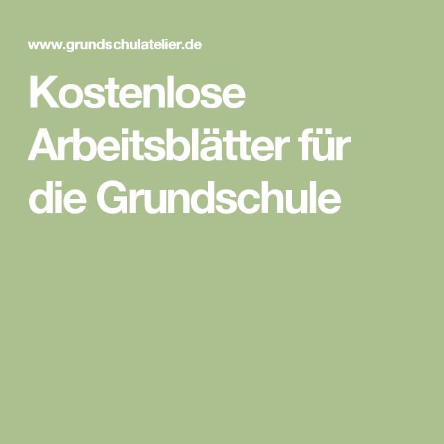 Kostenlose Arbeitsblätter für die Grundschule | Éducation allemand ...