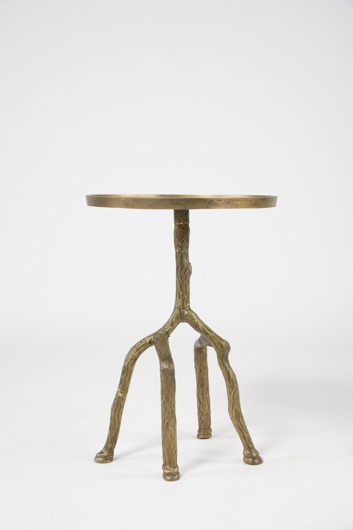 Home Office Tree Branch Side Table Raw Bronze Imar 32 Rbz Office