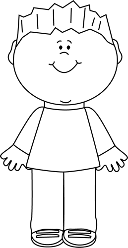 Black And White Happy Boy Clipart Black And White Clip Art Coloring Pages For Boys