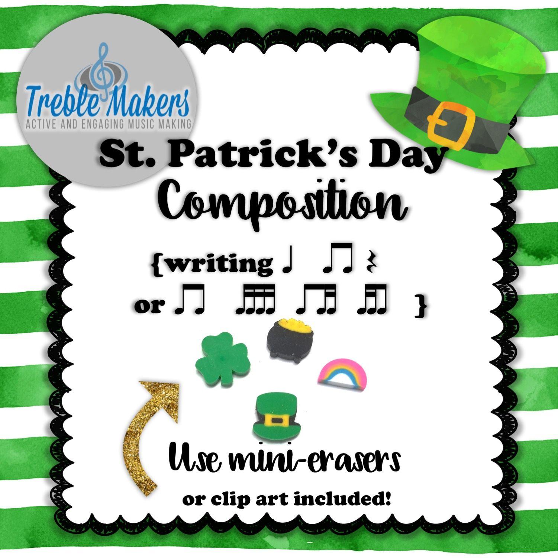 St Patrick S Day Rhythmic Composition Writing Ta Titi
