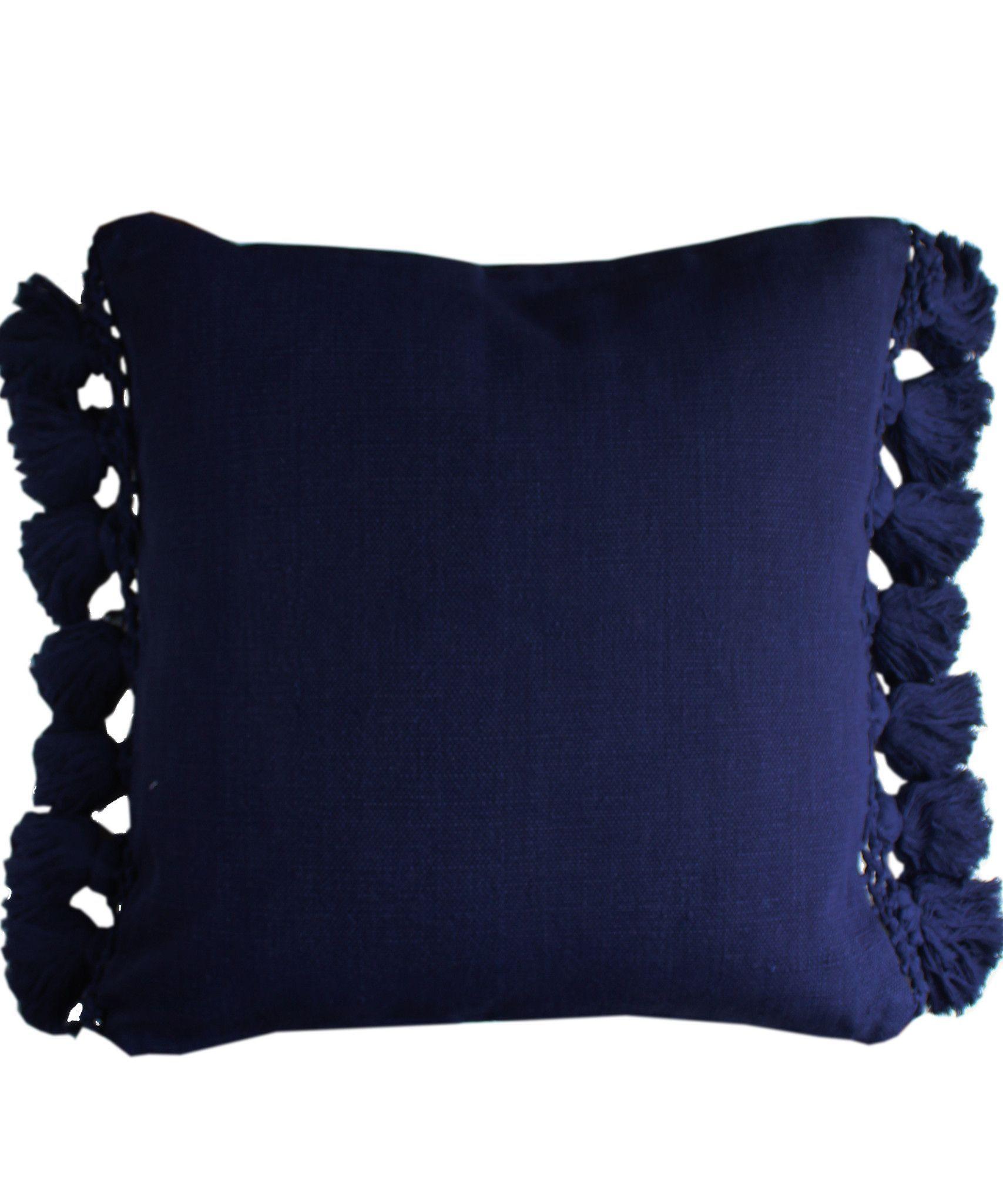 Kate Spade Tassel Pillow Navy Tassel Pillow Pillows Kate Spade Bedroom