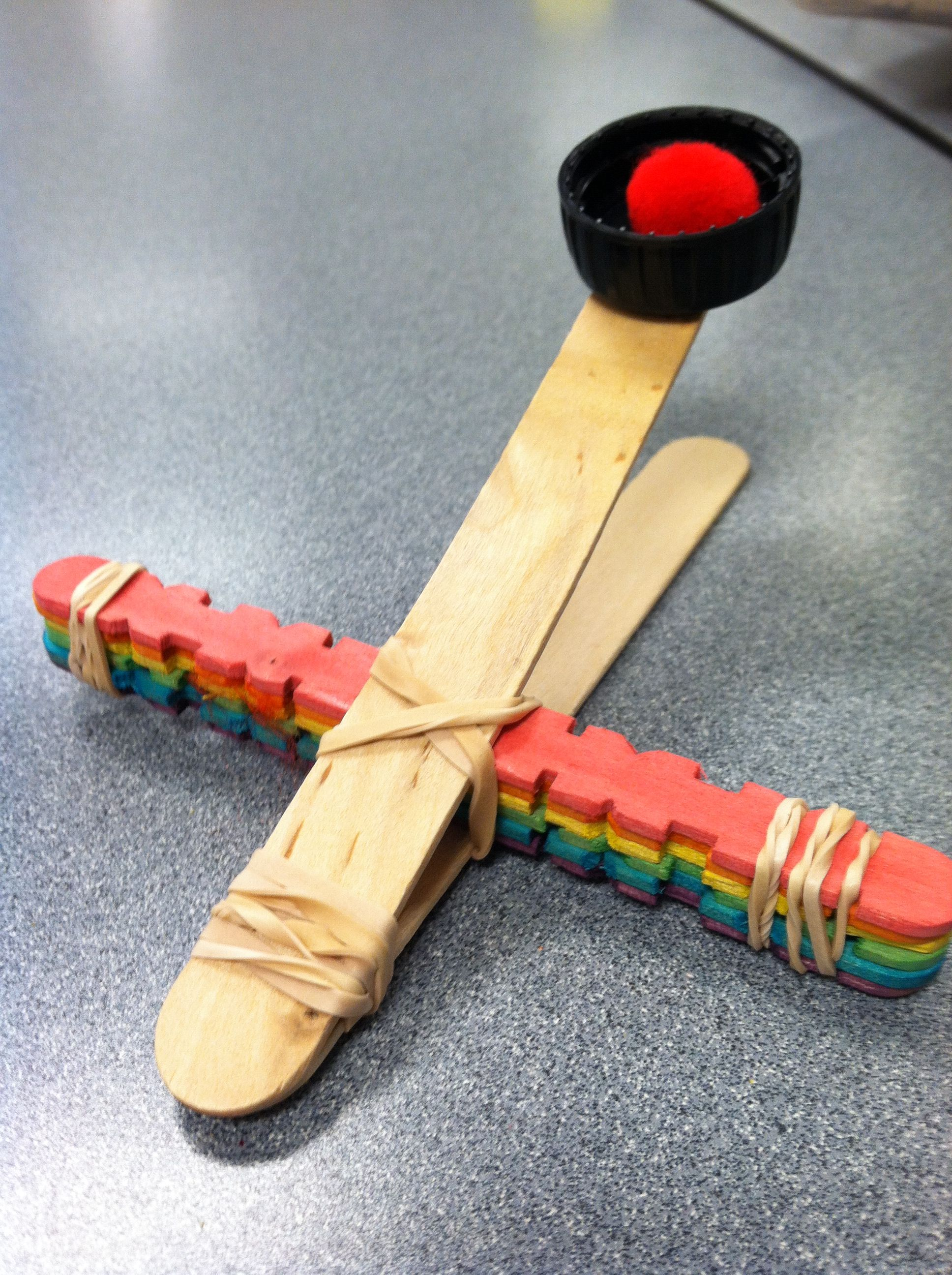 Catapult Craft For Kids: DIY Catapult Out Of Popsicle Sticks And Rubber Bands