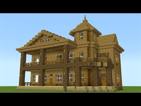 Minecraft How To Build A Huge Wooden Mansion Minecraft Servers