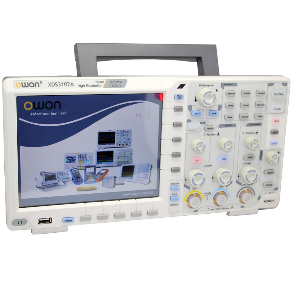 Owon Xds3102a 100m 1g12boscilloscope Datalogger Rmultimeter Waveform 20mhz High Speed Generator