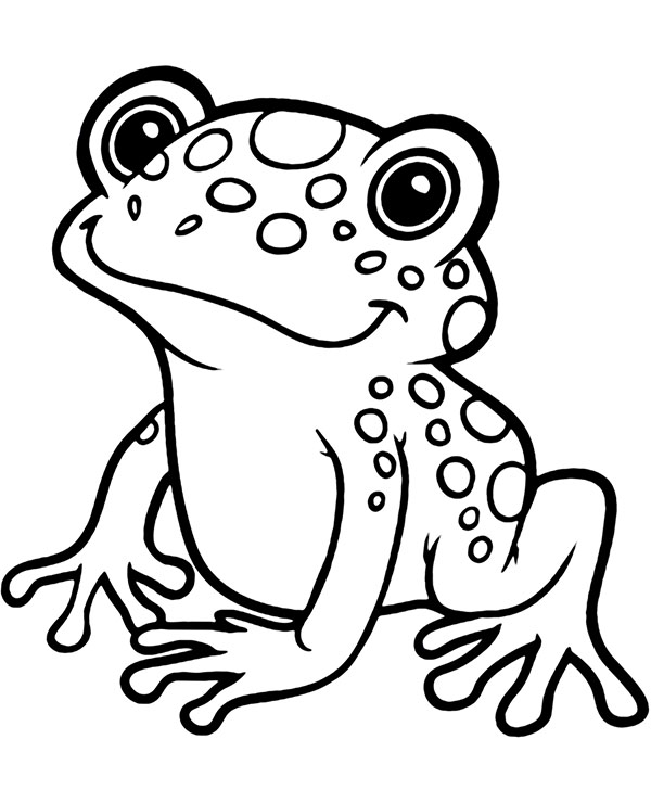 Exotic frog coloring page to print or download for fkids, fish Coloring Page, FREE Coloring Page Template Printing Printable Sea Animals Coloring Pages for Kids, frog #coloringpagestoprint