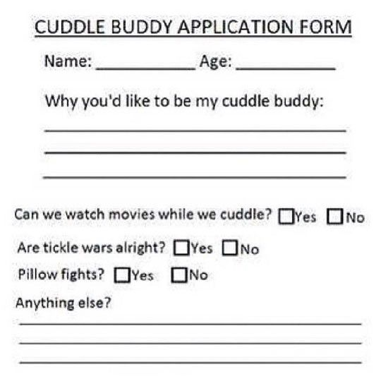 Dating app for cuddling