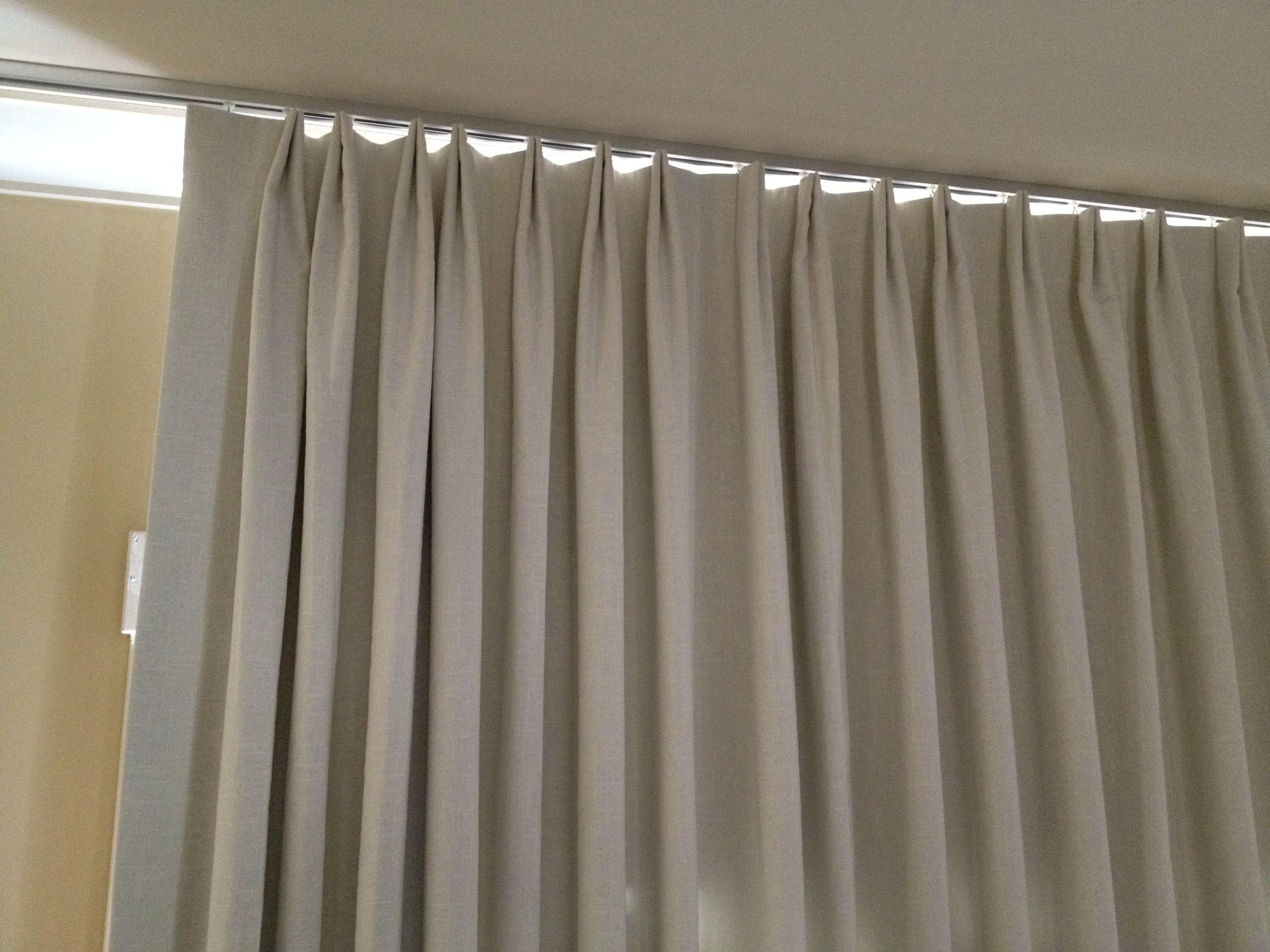 Parisian Pleat Curtain On Ceiling Track Le Window