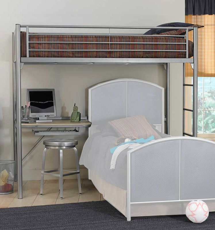 Hillsdale Universal Loft Bed With Study Center 1178 011 021 Bunk Bed Designs Twin Loft Bed Loft Bunk Beds