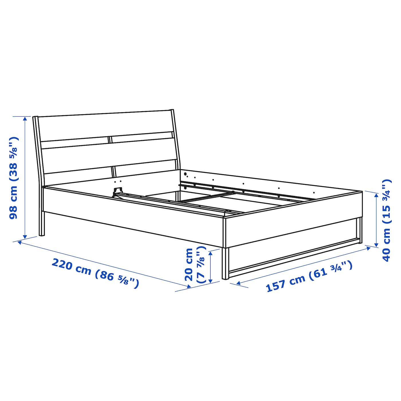 Ikea Trysil Bed Frame In 2020 Bed Frame Black Bedding Ikea Trysil