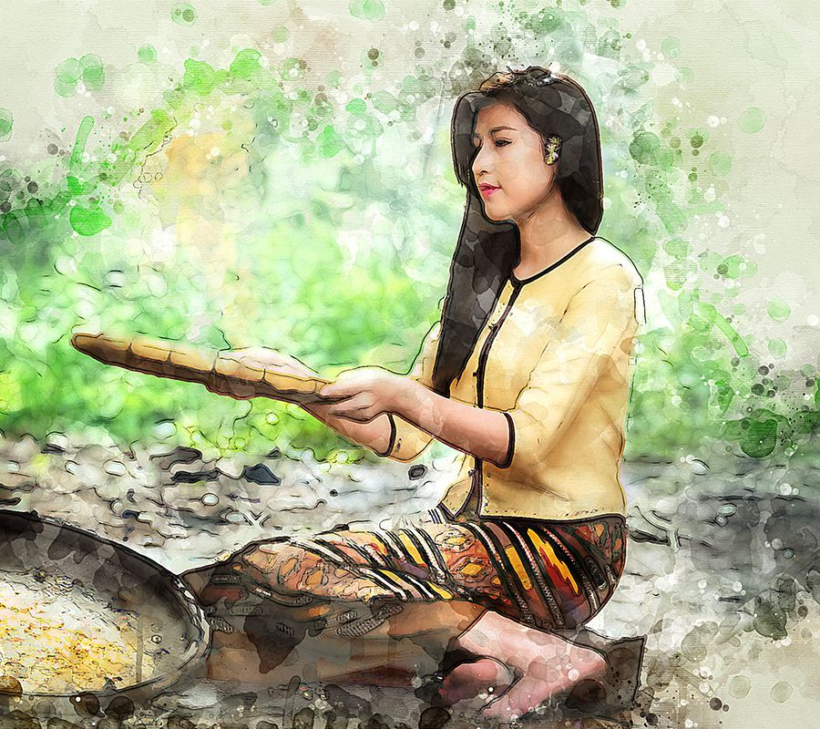 Watercolor Masterpiece Photoshop Action Photoshop Actions