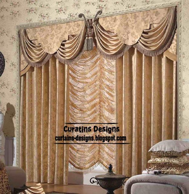 Indian curtain curtain design for living room beige ...