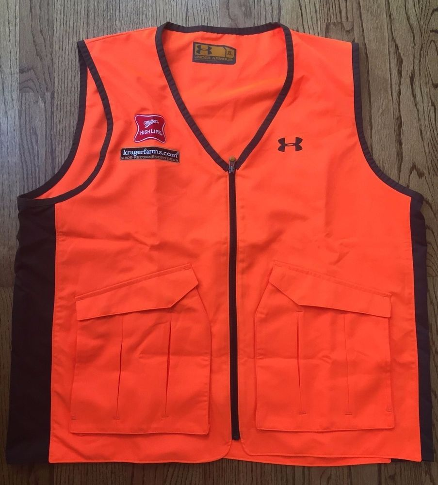Under Armour Safety Vest for Hunting Fishing Hiking Size