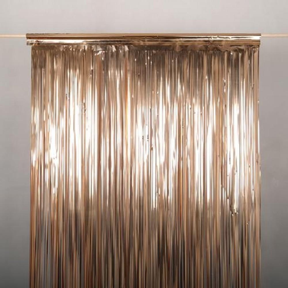 Metallic Rose Gold Copper Foil Curtain 2m X 90cm Foil Curtain