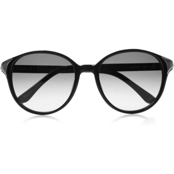 Chloé Round-frame acetate sunglasses ($142) ❤ liked on Polyvore