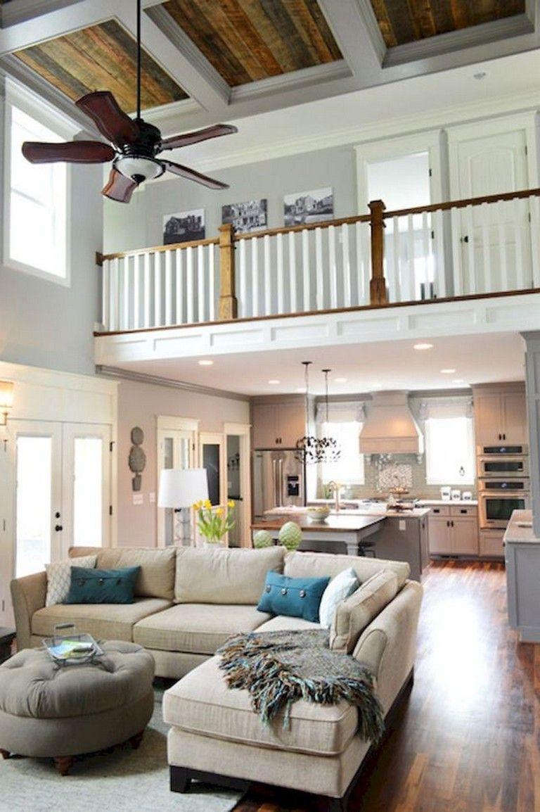 54+ Amazing Lake House Living Room Decor Ideas images