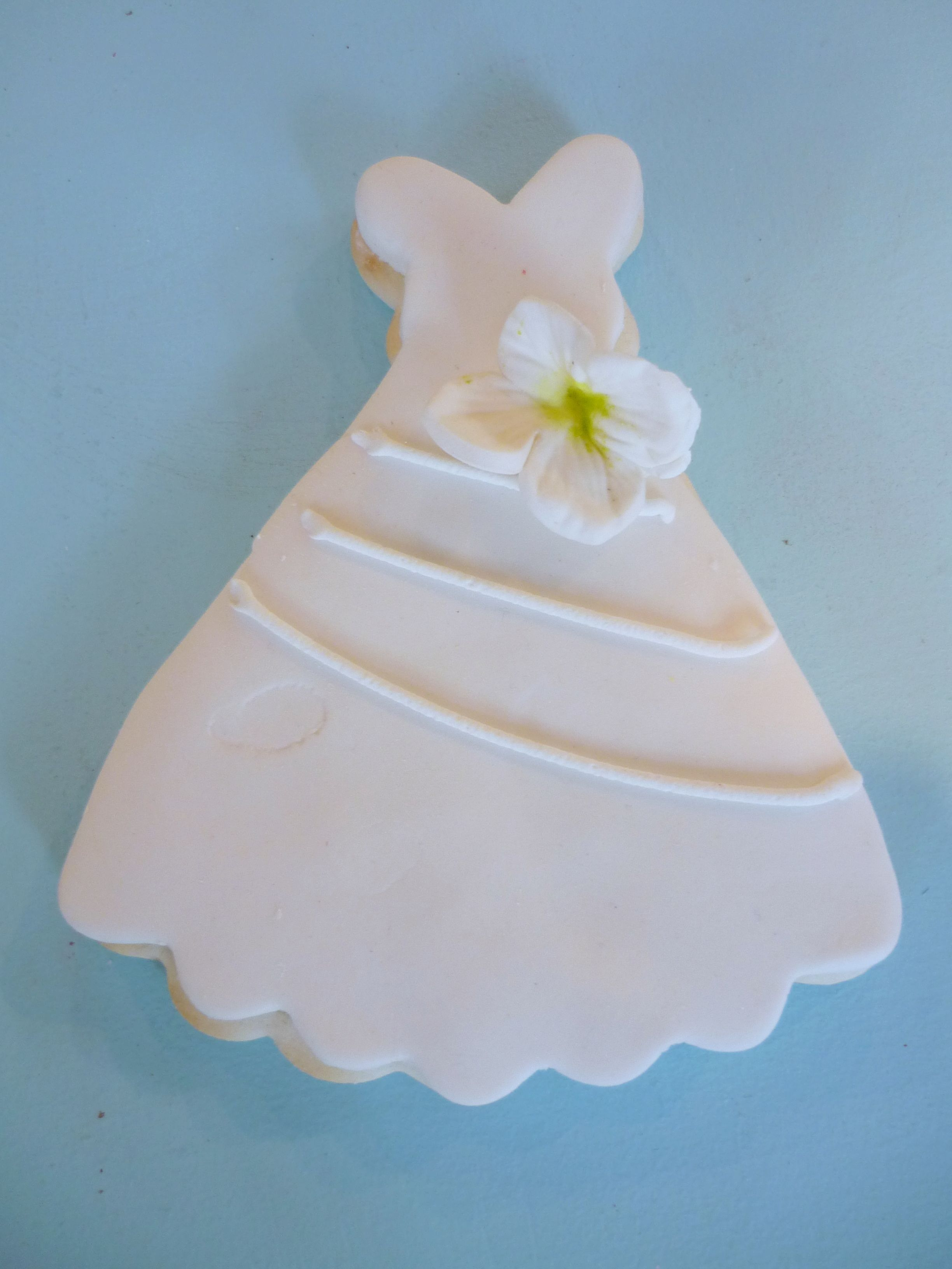 Bride\'s Gown Cookie Favor} Handmade sugar cookies with a classic ...