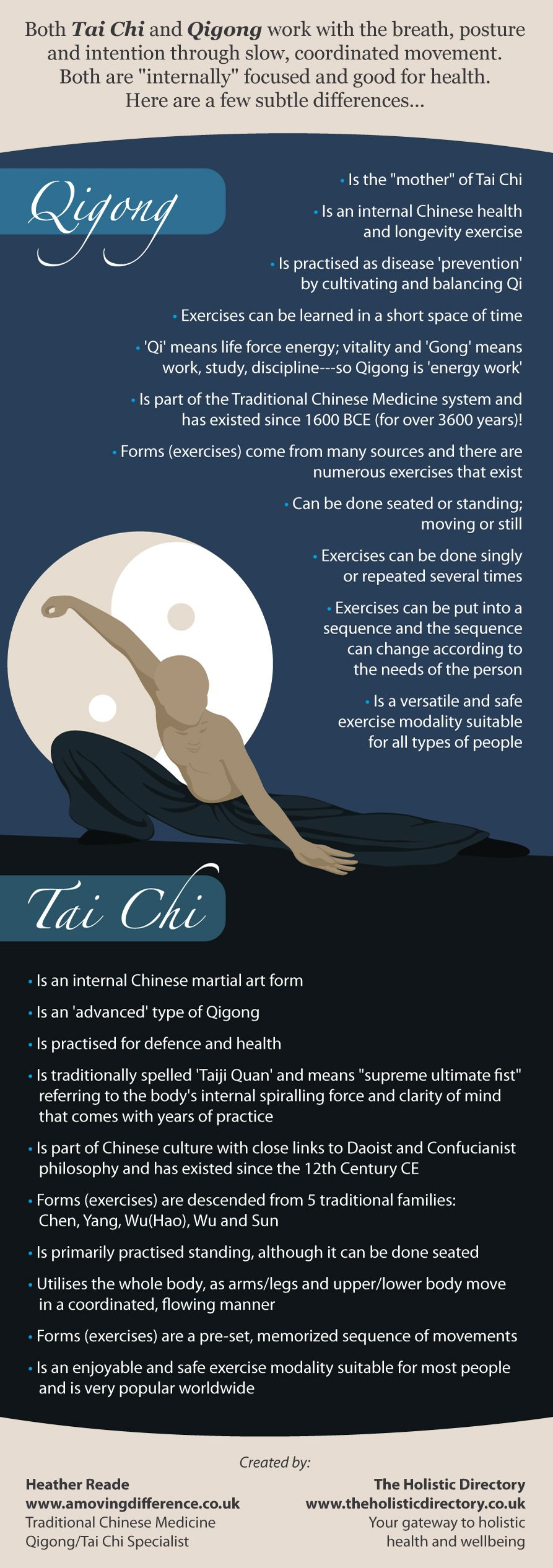 Qigong Or Tai Chi What S The Difference By The Holistic Directory Learn More Drmalikov Com Tai Chi Qigong Tai Chi Qigong