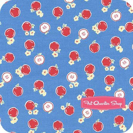 Flower Sugar Blue Small Apples Yardage SKU# 30970-70