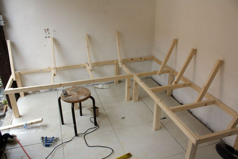 marvelous How To Build A Booth Bench Part - 2: Build a Corner Booth Seating | bench for all seasons u2013 Building a harvest  kitchen part 3 | No .